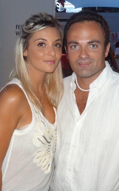 Priscilla Betti et Laurent Amar lors du concert Enfant Star et Match à Juan les Pins