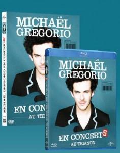 Michaël Gregorio en Blu-ray et en DVD.