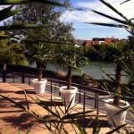 La vue de la terrasse du Quai Est