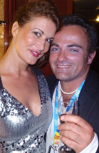Marion Dumas et Laurent Amar sur le yacht Arte durant le Festival de Cannes.