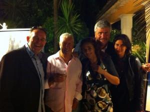 Gérard en compagnie de Stéphane Collaro et de ses amis.
