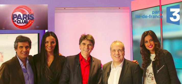 De gauche à droite : Jean-Philippe Lustik, Sonia Souid, Tex, Guy Sitruk et Malika Ménard,
