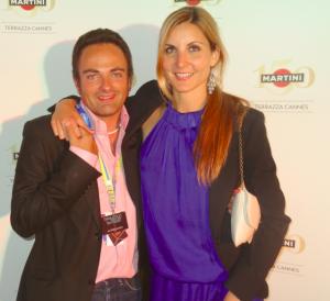 Margarita Nagel et Laurent Amar à la Terrazza Martini lors du derniers festival de Cannes.