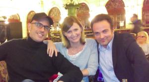 De gauche à droite : Marc Fichel, Annabelle Milot et Laurent Amar