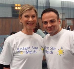 Michèle Laroque et Laurent Amar