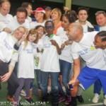 Des sourires gagnants à la journée «Enfant star et match» du 17 Mars dernier.