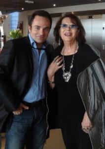Laurent Amar et Claudia Cardinale au Festival de Valenciennes.