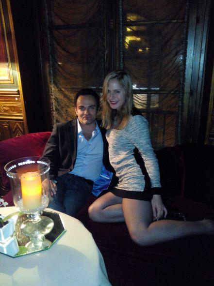 """Laurent Amar et Sarah Frivolle lors de l'interview au restaurant """"Laperouse"""""""