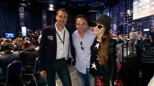 Alexis Laipsker, Laurent Amar et Gaëlle Garcia Diaz lors du tournoi de Poker à Monte-Carlo