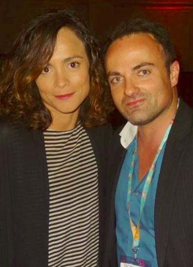 Alice Braga et Laurent Amar au Martinez à Cannes lors du Miptv 2014