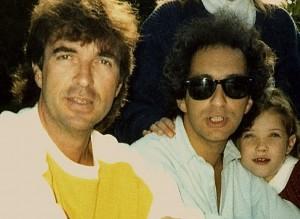 Grégoire Colard en compagnie de Michel Berger et sa fille