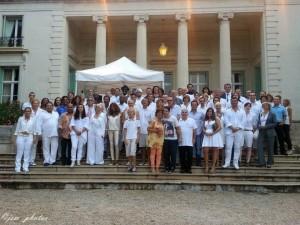 Lors de la soirée privée à la Villa Eilenroc sur le Cap d'Antibes, la veille de l'évènement.