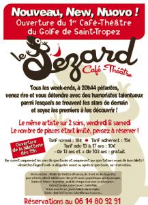 """Affiche officielle du Café Théâtre """"Le Lézard""""."""
