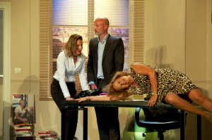 De gauche à droite : Christine Lemler, Franck Leboeuf et Katia Tchenko