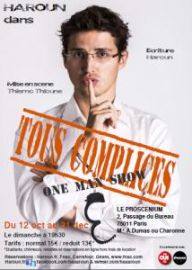 """""""Tous complices"""", le spectacle de Haroun."""