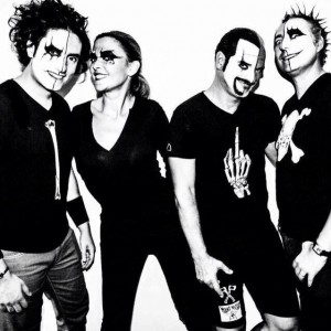 """Sandrine Quétier et ses complices du groupe """"The Jokers""""."""