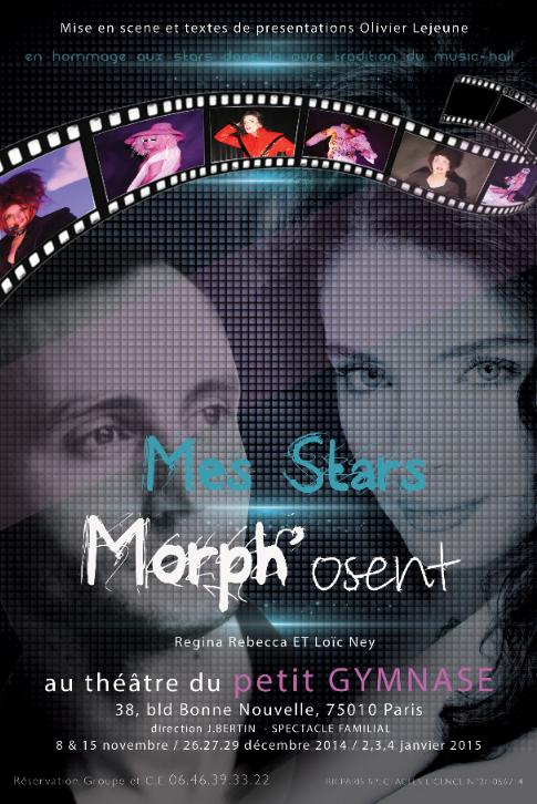 """Affiche officielle de  """"Mes stars Morph'osent""""."""