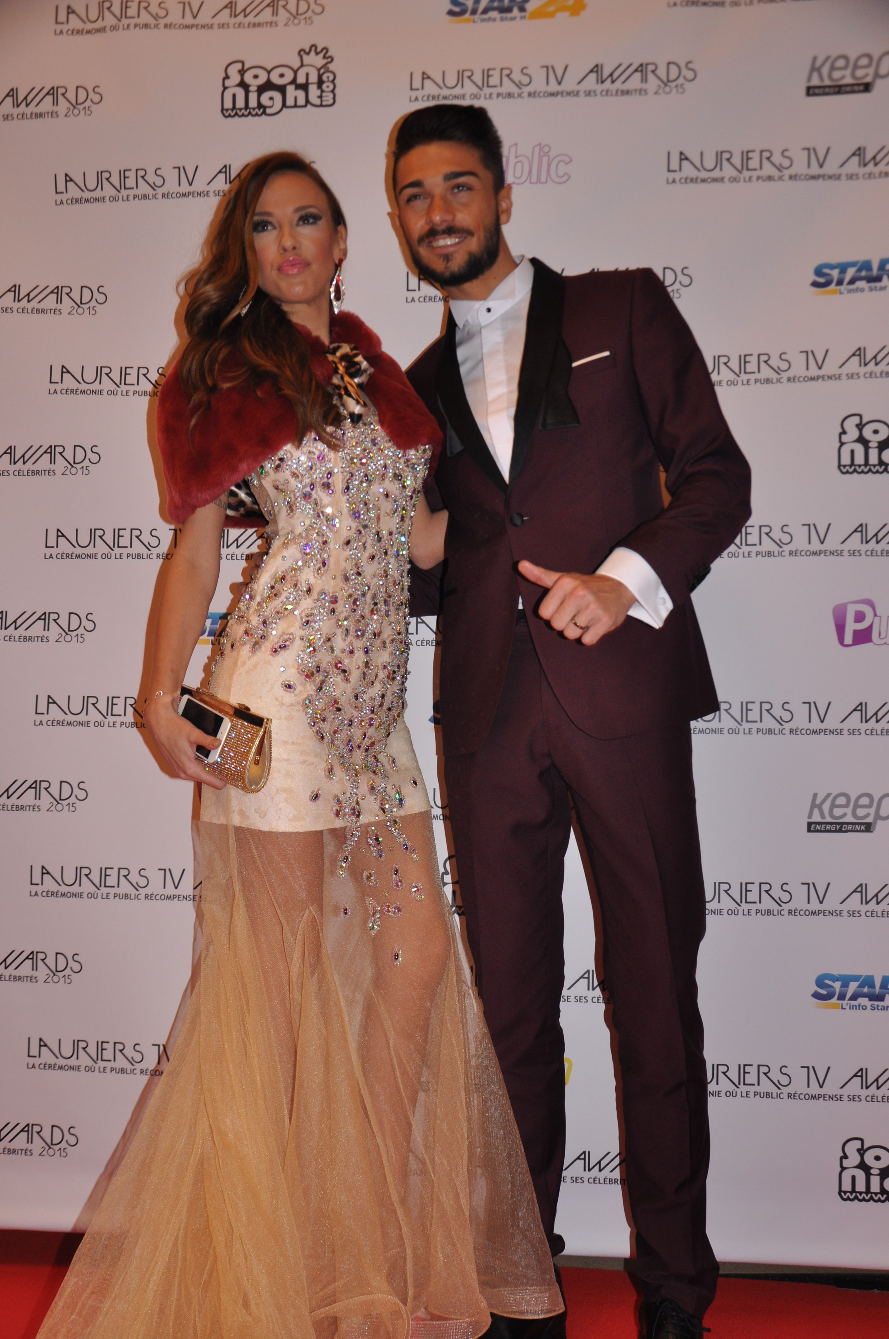 Vanessa Lawrens et Julien Guirado au Lauriers Tv Awards 2015. Crédit photo : Star24