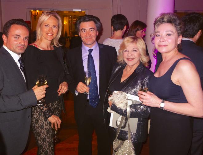 De gauche à droite : Laurent Amar, Alexandra Vandernoot, Jean-Pierre Jacquin, Nicoletta et Grâce de Capitani.