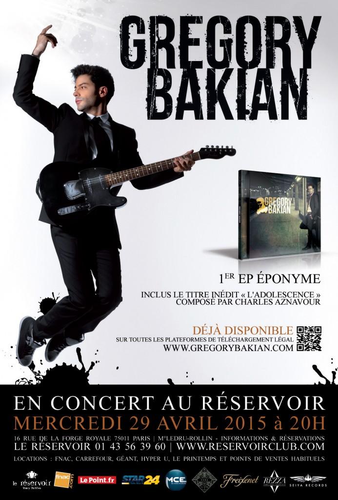 Affiche du concert de Grégory au réservoir