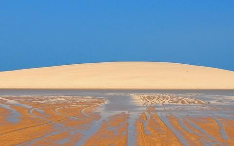 La DuneBblanche, à marée basse.