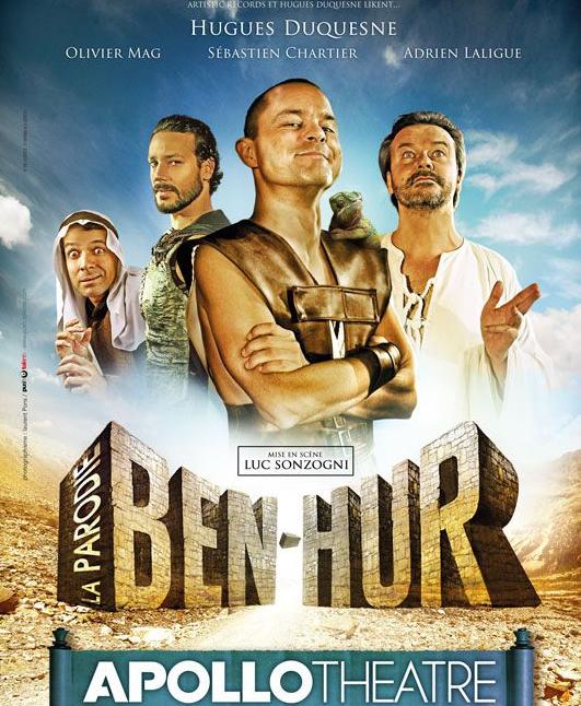 Le spectacle Ben-Hur, avec Sébastien Chartier.