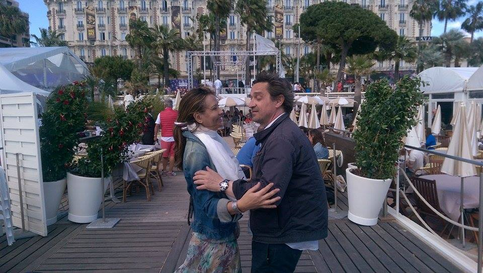 Marie-Olga Charriol et Cannes 2015: Marie-Olga Charriol et le comédien Louis-Do de Lencquesaing.