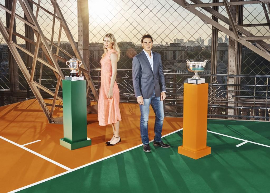 Maria Sharapova et Rafael Nadal.