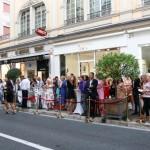 Inauguration de la boutique Kalina à Monaco.