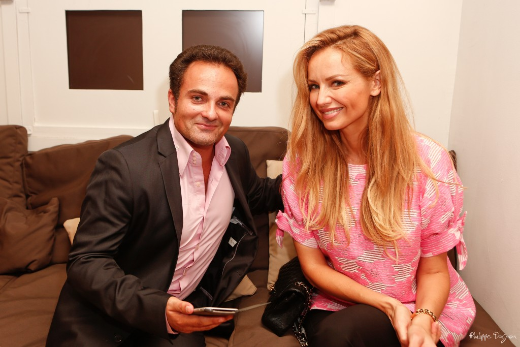 Laurent Amar et Adriana Karembeu, lors de l'interview.
