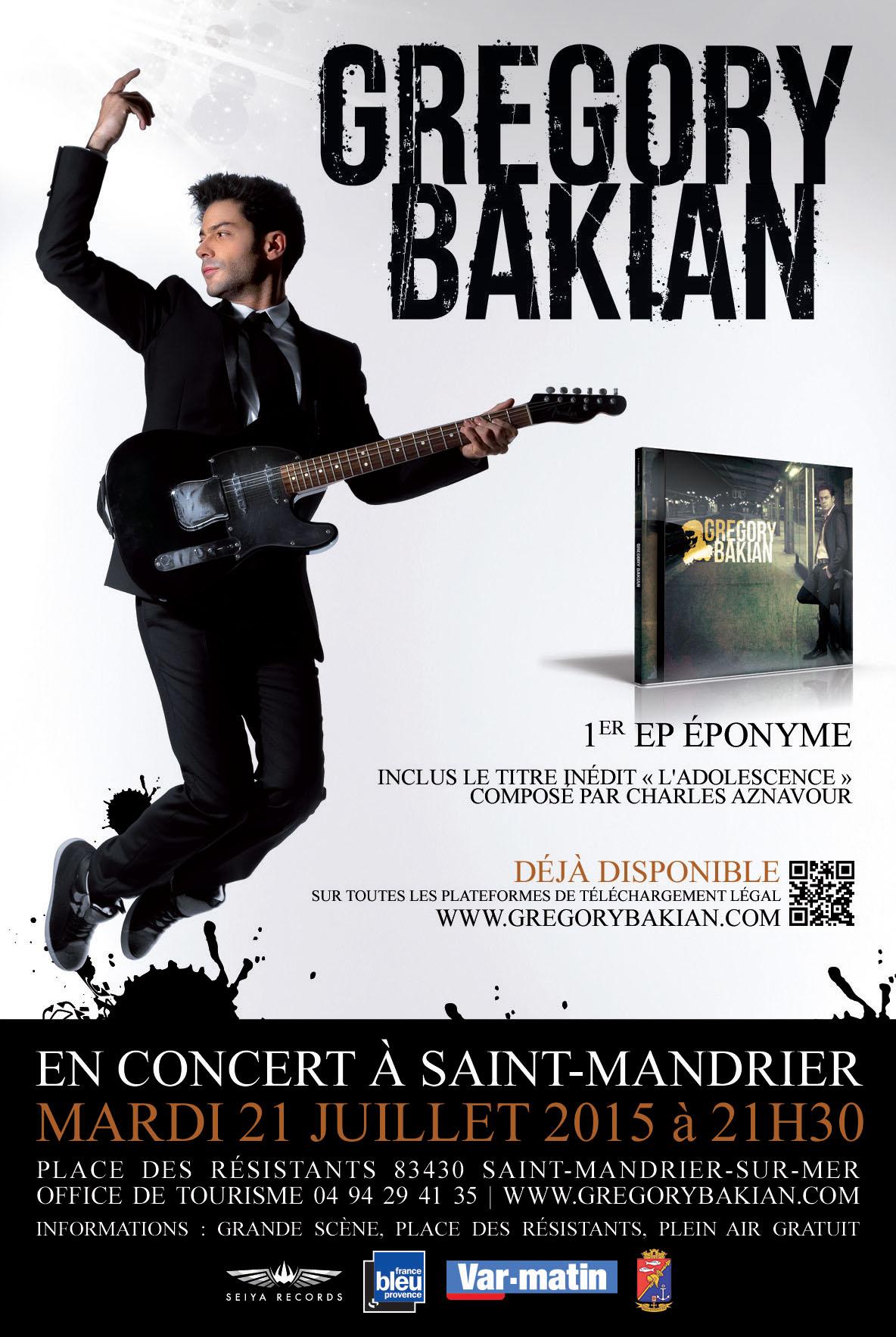 Grégory Bakian en concert à Saint-Mandrier-sur-Mer, le 21 juillet