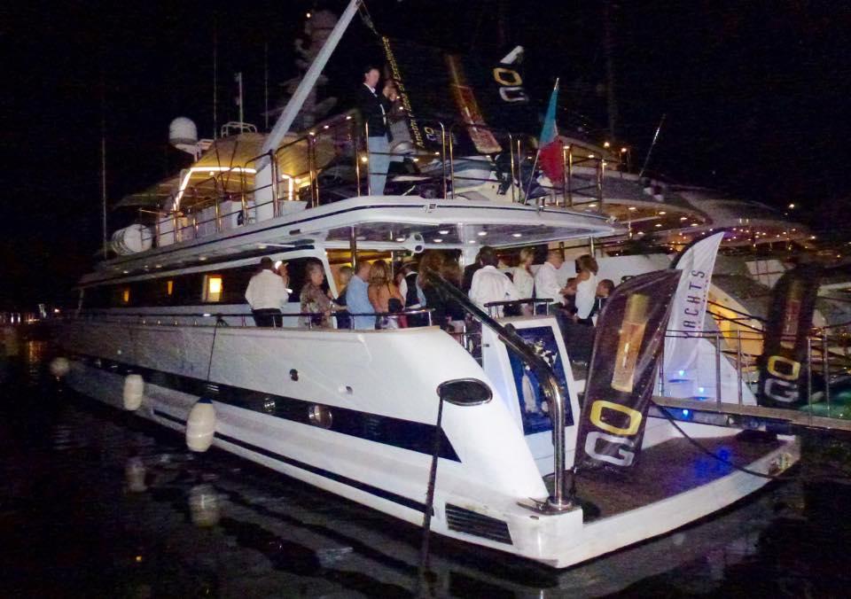 La fête a continué sur un Yacht à Saint Tropez