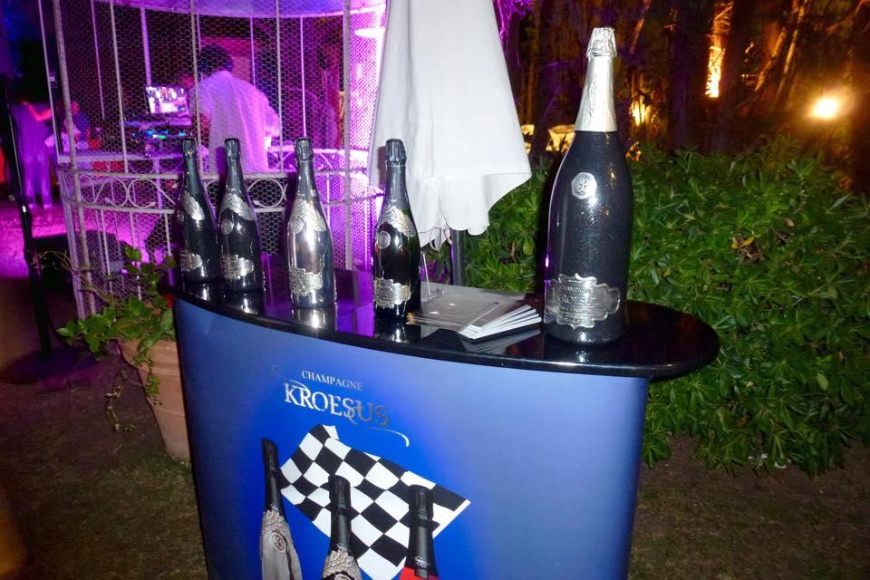 Le champagne Kroesus fut de la partie.