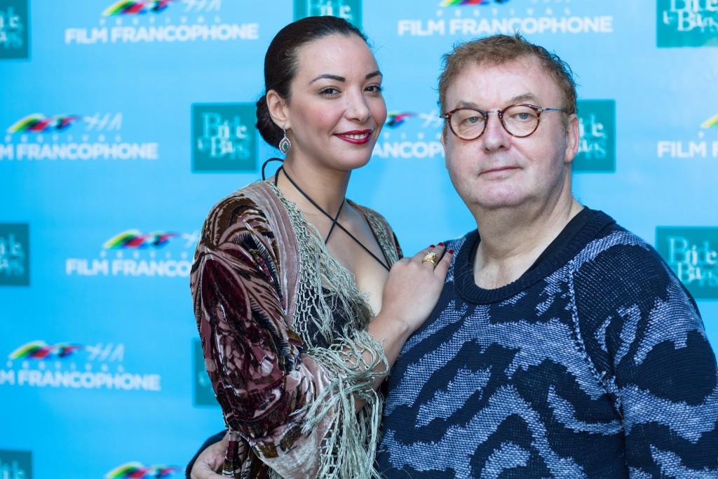 Dominique Besnehard et son actrice fétiche Loubna Abidar à Brides les Bains. Crédit photo: ®Christophe-Stramba