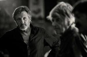 """Michel La Rosa et Jean-Pierre Mocky durant le tournage de """"Le Cabanon Rose"""""""