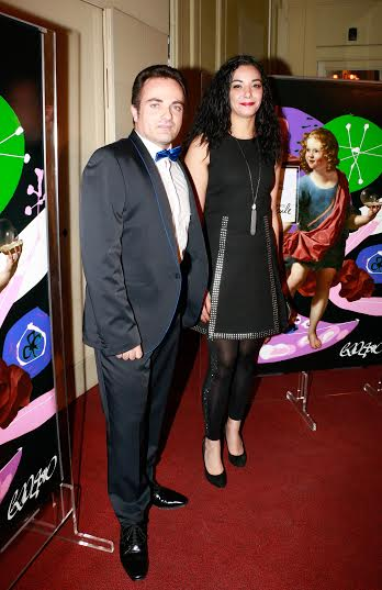 Laurent Amar et Loubna Abidar à la soirée Enfance Majuscule à la salle Gaveau