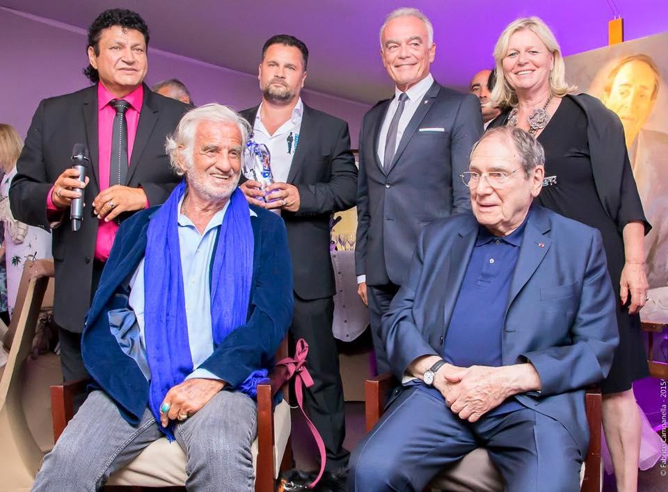 Frédéric Garnier en compagnie de Jean-Paul Belmondo et Robert Hossein