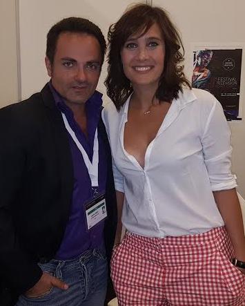 Julie de Bona et Laurent Amar juste après l'interview