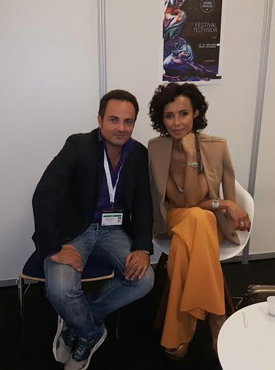 Laurent Amar et Sonia Rolland lors de l'interview