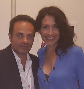 Laurent Amar et Lisa Edelstein au Forum Grimaldi