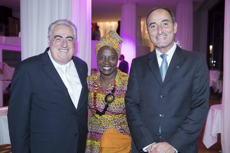 Jean-Michel Aubrun, Angélique Kidjo et Hervé Michel-Dansac
