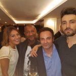 Le comédien Édouard Montoute et ses amis people ont inauguré le nouveau  bar « L'Upper », sur l'île Saint-Louis à Paris.