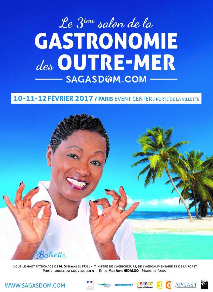 Affiche officielle du 3ème salon de la gastronomie des Outre-Mer