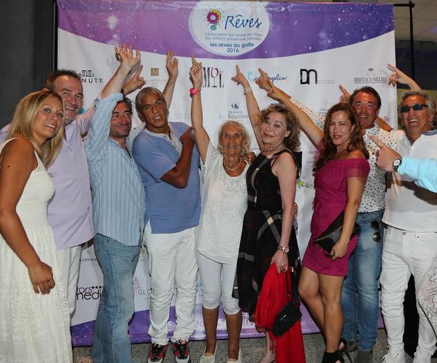 De gauche à droite: Julie Liger, Gérard Sommelier, Jean-Pierre Jacquin, Samy Naceri, Grâce de Capitani, Myriam Charleins et Hervé Pouchol