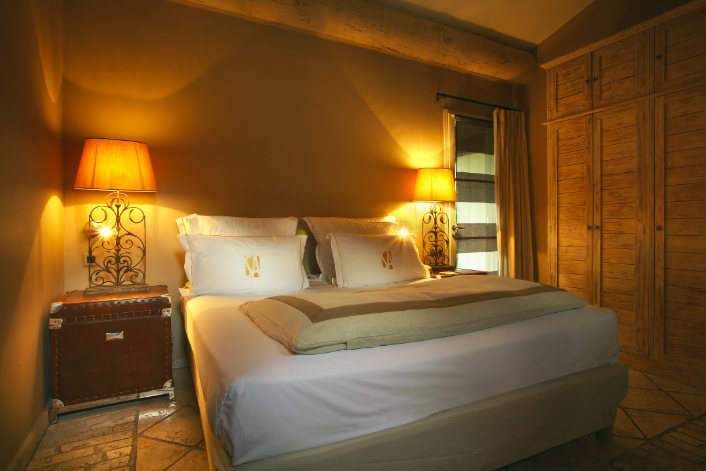 L'une des très belles chambres de La Tartane Saint-Amour
