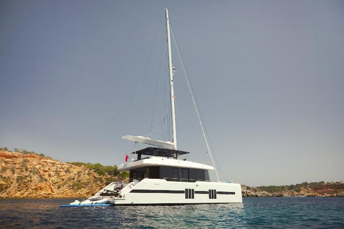 """Le catamaran """"Supreme""""de 68 mètres."""