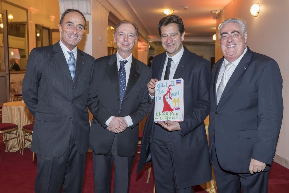 Hervé-Michel Dansac, Philippe Chevalier, Laurent Gerra et Jean-Michel Aubrun