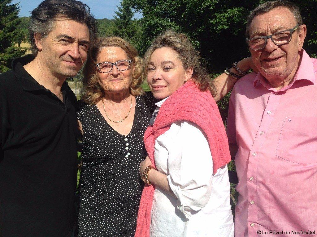 De gauche à droite: Le chef Jean-Pierre Jacquin, Mary Wallon et l'actrice Grâce de Capitani