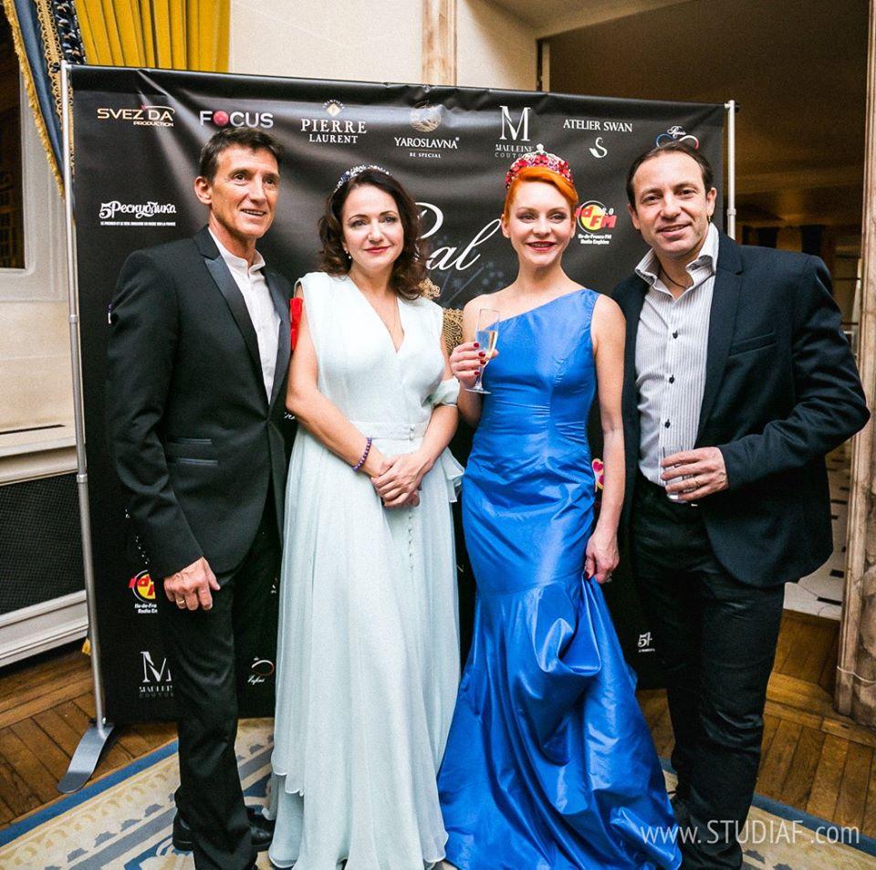 Anastasia en compagnie de Philippe Candeloro et Marina Anissina,