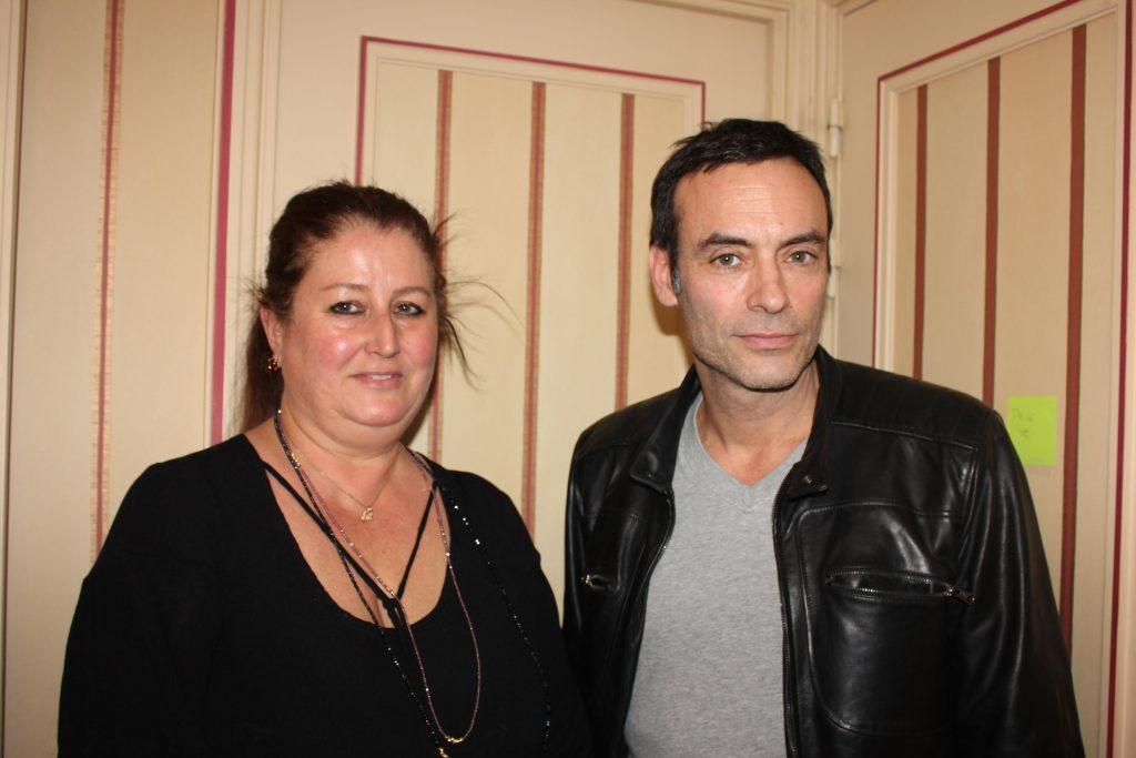 Nathalie Dubois en compagnie d'Anthony Delon